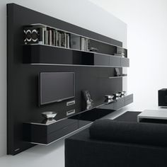 ) on ArchiExpo, the architecture and design specialist for your professional purchases. Wall Unit Designs, Tv Unit Design, Tv Wall Design, House Design, Living Room Wall Units, Living Room Modern, Living Room Designs, Modern Tv Wall Units, Tv Cabinet Design