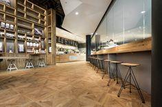 pano brot & kaffee in stuttgart designed by DIA - dittel architekten Cafe Bar, Cafe Restaurant, Restaurant Design, Restaurant Interiors, Shop Interiors, Bakery Design, Cafe Design, Commercial Interior Design, Commercial Interiors