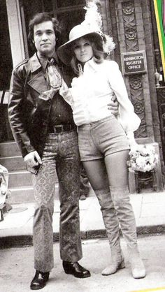 1970s - check out her hot pants outfit