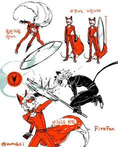 ♡ Miraculous Ladybug ♡ Nathaniel (Nathanael) FireFox vs Chat Noir