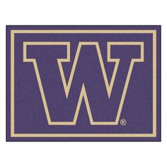 Ncaa University of Washington Purple 8 ft. x 10 ft. Indoor Area Rug