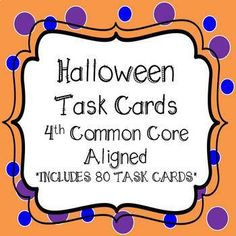 Halloween Math -This Bundle includes 5 sets of Halloween Task Cards. Fun and Engaging for students in the month of October. All sets are Halloween Themed. Children will solve addition problems, subtract across zeros THIS IS ALWAYS A DIFFICULT TOPIC), double digit multiplication, dividing with no remainders and rounding. 80 Task Cards Holiday Activities, Math Activities, Seasons Activities, Halloween Activities, Teacher Resources, Teaching Ideas, Science Resources, School Resources, Classroom Resources
