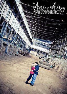 Amazing engagement photos from Ashley Athey Photography - this one was taken at Woolery Stone Mill. So very Bloomington...