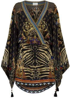 Harrods, designer clothing, luxury gifts and fashion accessories Caftan Dress, Kimono, Camilla Dress, High Fashion Outfits, Casual Wear, Wrap Dress, Printed Silk, Couture, Pure Products