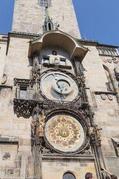 Prague Townhall tower clock // photographer: Raymond Loyal // // visit my website Tower Clock, Czech Republic, Prague, Big Ben, Tourism, Website, City, Building, Travel