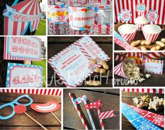 Carnival Birthday Printable Party Package - So cute!