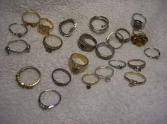 UNKNOWN SILVER RING JEWELRY LOT SOME NEW SOME USED