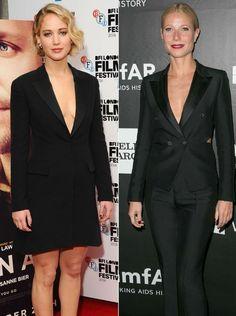 Gwyneth Paltrow und Jennifer Lawrence wurden in fast dem selben Outfit gesichtet