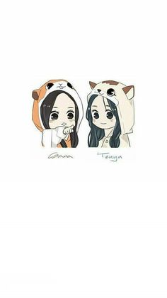 Twice sana x Tzuyu satzu wallpaper lockscreen Best Friend Drawings, Bff Drawings, Anime Girl Drawings, Kawaii Drawings, Anime Best Friends, Friend Anime, Cute Friends, Cute Couple Wallpaper, Cute Anime Wallpaper