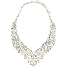 Forever New Liana Embellished Diamante Necklace (830 UAH) ❤ liked on Polyvore featuring jewelry, necklaces, accessories, crystal, diamante necklace, forever new, diamante jewellery, adjustable necklace and short necklaces