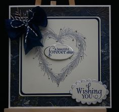 Verve Wishing You stamp set with Heart Wreath by Chloe