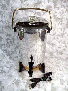 Sold VINTAGE MIRRO PARTY PERK 22 CUP ELECTRIC PERCOLATOR COFFEE MAKER #B-9292-75