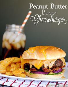 Peanut Butter Bacon Cheeseburger Recipe #SayCheeseburger #shop