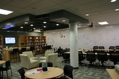 """This is a new learning space at Glenbrook North High School. We began researching learning spaces 4 years ago and specifically designing this at that point. It came to life in the summer of 2010 after one year of official planning."""