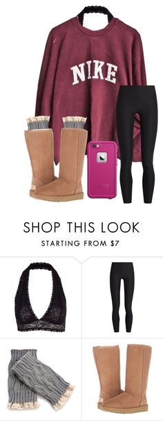 """being with you feels like home<3"" by arieannahicks ❤ liked on Polyvore featuring Y.A.S, NIKE, A.P.C., UGG and LifeProof"