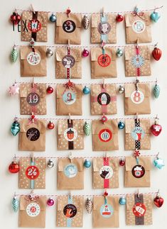 From super simple to absurdly elaborate: The 24 best advent calendar ideas. - From super simple to absurdly elaborate: The 24 best advent calendar ideas. Advent Calenders, Diy Advent Calendar, Homemade Advent Calendars, Christmas Holidays, Christmas Crafts, Christmas Decorations, Calendrier Diy, Navidad Diy, Printable Calendar Template
