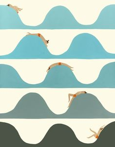 Ocean Wave Illustration Laura Berger