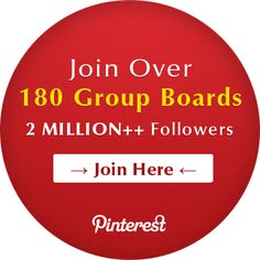 Get access to 2.1 MILLION Pinterest followers by getting invited to over 180+ Group Boards. Visit http://PinterestBoards.info for more #boards #pinboards