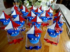 Nautical Party Favors Decorations Cold Porcelain/ Festa Marinheiro Biscuit https://www.facebook.com/BelaVitaCreationsbyIzabela