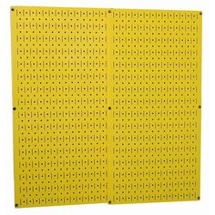 Wall Control Yellow Metal Pegboard Pack with Two Pegboard Tool Boards-30P3232YW - The Home Depot