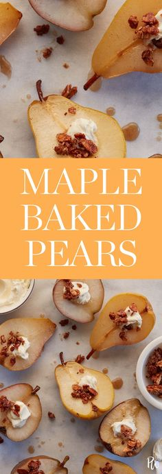 Maple Baked Pears #purewow #baking #easy #recipe #dessert #winter #food #holiday