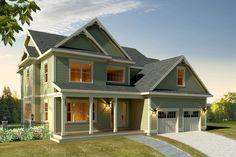 Farmhouse Style House Plan - 4 Beds 3.5 Baths 3370 Sq/Ft Plan #497-16 Exterior - Front Elevation - Houseplans.com