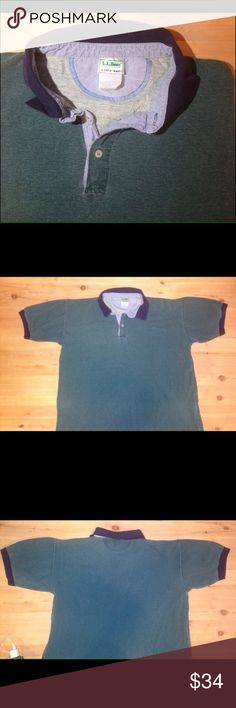 NEW Casco Bay Polo Tall Large L.L. Bean Polo Men's Large Tall Classic fit  L.L. Bean Freeport, Maine Authentic Polo in Pine Green w navy blue trim. Super nice Polo with half button front. 100% Cotton. L.L. Bean Shirts Polos
