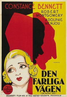 Swedish Poster - The Easiest Way, 1931 - art by Eric Rohman