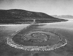 Resonates.  Robert Smithson's monumental earthwork Spiral Jetty (1970) is located on the Great Salt Lake in Utah