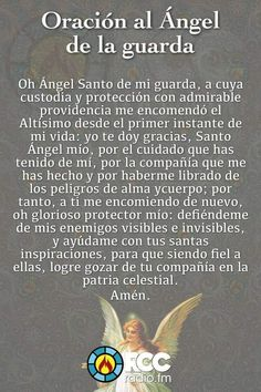 Prayer Verses, God Prayer, Prayer Quotes, Catholic Prayers In Spanish, Archangel Prayers, Spiritual Prayers, Night Prayer, Miracle Prayer, Your Guardian Angel