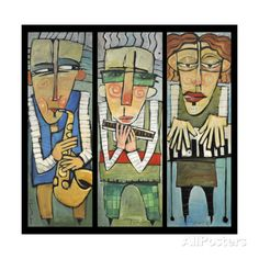 Jazz Trio Giclee Print by Tim Nyberg - AllPosters.co.uk