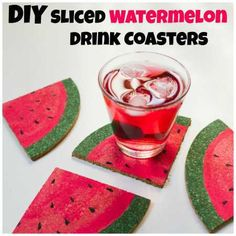 Watermelon coasters-do it quilted though
