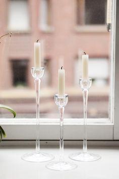 Delicate candle sticks. Pupulandia | Trendi. Candle Sticks, Delicate, Candles, Interior, Style, Swag, Indoor, Candlestick Holders, Candlesticks