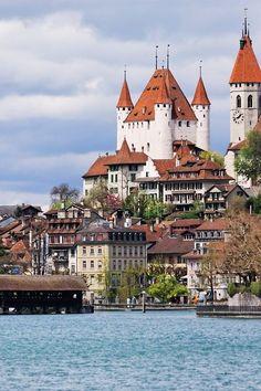Old town, Thun, Switzerland - castle tour in Switzerland