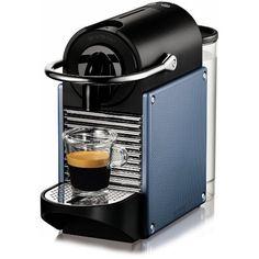 Nespresso Pixie Espresso Maker, Steel Blue - http://nespressoshop.net/nespresso-pixie-espresso-maker-steel-blue
