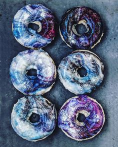 22-year-old Iranian confectioner Hedi Gh posted a picture of her otherworldly creation on Instagram and everyone went crazy. People wanted to know the recipe. Luckily, a few weeks later instagrammer Sam Melbourne posted the recipe along with her own vegan galaxy donuts. Sam says she made the galactic treats for her sick boyfriend.