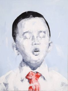 """""""Gesong NO.43,"""" expressionist portrait painting by Han Yuliang   See more great work by artists working out of China: http://www.saatchiart.com/art-collection/Painting-Collage-Drawing/Spotlight-on-China/153961/104061/view"""