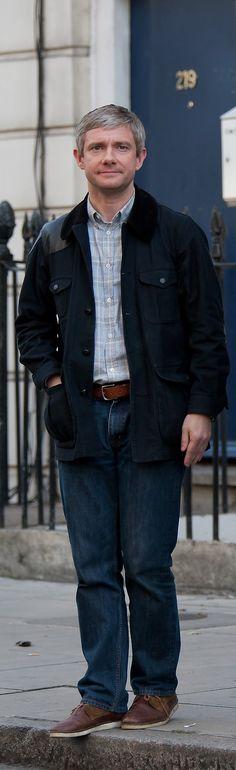 Martin Freeman filming #Sherlock series 3 in London yesterday