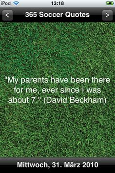 Behind every great soccer player is a great soccer mom & dad!  ; P