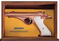 Unique Copper Finished Whitney Wolverine Semi-Automatic Pistol with Unique Book Case Shooting Bench, Firearms, Shotguns, Guns And Ammo, Wolverine, Hand Guns, Copper, Retro, Conceal Carry