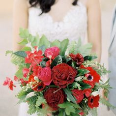 Shades Of Red with Greenery
