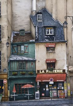Where to Eat in Paris, France – The Restaurant Guide Beautiful Buildings, Beautiful Places, Travel Chic, Paris Ville, Old Buildings, Paris Buildings, Urban Sketching, Places To Travel, Watercolor Paintings