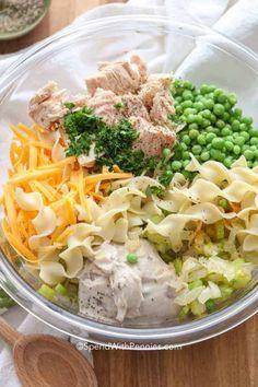 Sushi Recipes, Seafood Recipes, Dinner Recipes, Cooking Recipes, Healthy Recipes, Healthy Food, Canned Tuna Recipes, Egg Noodle Recipes, Healthy Tuna