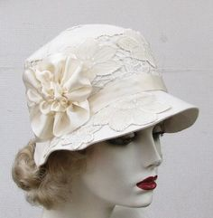 English Wedding Hats for Women | Womens Hat 1920's Edwardian Wedding Hat Vintage Style by BuyGail, $175 ...