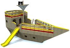The High Seas Galleon | Kid's Pirate Ship Plan