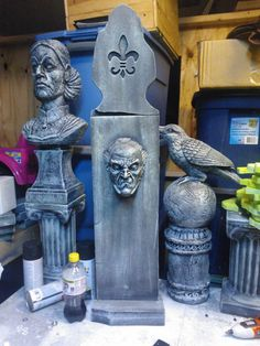 tombstone using dollar store door knocker!