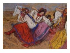 Russian Dancers, about 1895 Giclee Print by Edgar Degas at Art.com