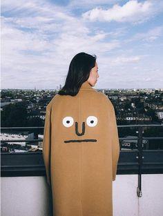 STEREO VINYLS [AW16 JJ x SV] Oversize Wool Coat(Beige)