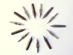 Set of Six Vintage Unused Pen Nibs - D. Leonardt & Co - Birmingham - England.