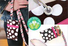 Badge Style Secret Pocket with Lanyard | Sew4Home